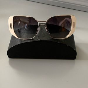 Authentic Prada White Sunglasses